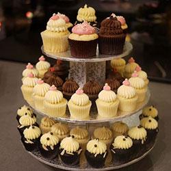 3 Tier Silver Cupcake Tower thumbnail
