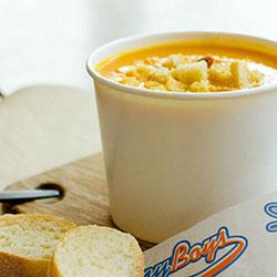 Roasted pumpkin and garlic soup thumbnail