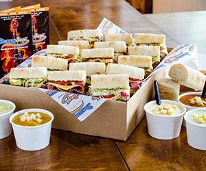 Sandwiches and soups Mega Stars platter - serves 9 to 12 thumbnail