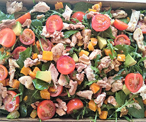 Chicken avocado walnuts salad thumbnail