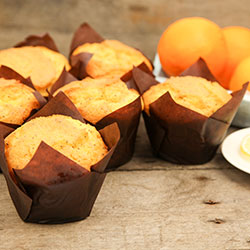 Orange and poppyseed gourmet muffin - box of 6 thumbnail