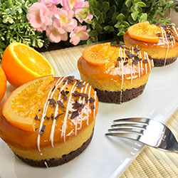 Flourless orange jaffa cake - 3 inch - box of 6 thumbnail