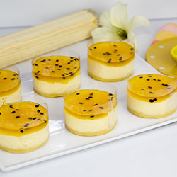 Passionfruit cheesecake - 3 inch - box of 6 thumbnail