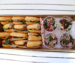Mixed banh mi and salad box thumbnail
