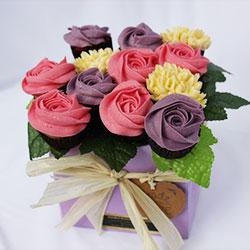 Cottage Garden cupcake bouquet thumbnail