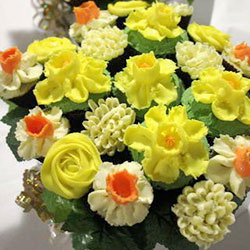 Daffodil Delight mixed cupcake bouquet thumbnail