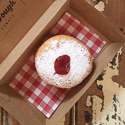 The Jam Bomb Dot Com Filled Donut thumbnail