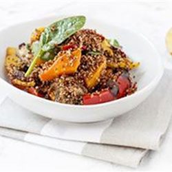 Red quinoa and roast vegetable salad thumbnail
