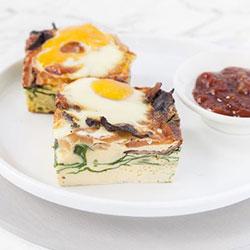 Individually packaged breakfast frittata piece thumbnail