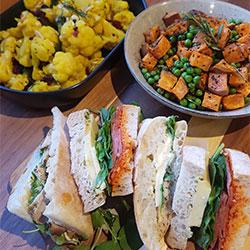 Assorted panini and fresh salad thumbnail
