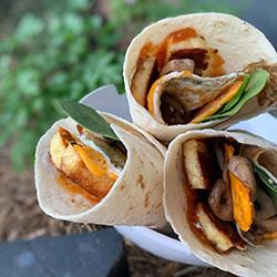 Vegetarian breakfast wrap thumbnail