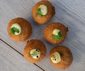 Truffle mushroom cheese aranchini thumbnail