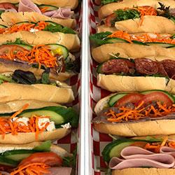 Baguette and salad platter thumbnail