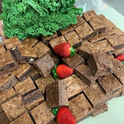 Chocolate fudge brownie finger thumbnail