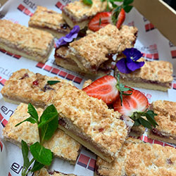 Coconut and berry slice thumbnail