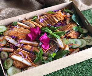 Spiced breaded chicken salad thumbnail