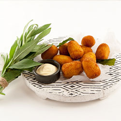 Macaroni, truffle and cheese croquette  thumbnail