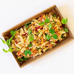Low GI vegetable spiral pasta salad thumbnail