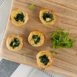 Spinach and feta quiche - mini thumbnail