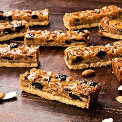 Honey, nut, cherry and chocolate slice thumbnail
