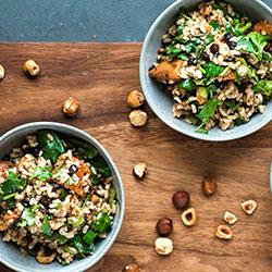 Brown rice and sweet potato salad thumbnail