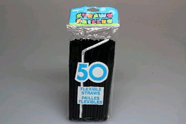 Straws flexi black thumbnail