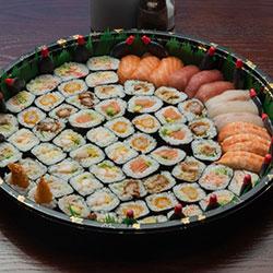 Assorted sushi and sashimi thumbnail
