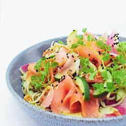 Smoked salmon soba noodle thumbnail