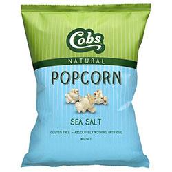 Sea salted popcorn - Cobbs - 80g thumbnail