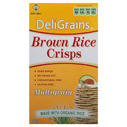 Brown rice crisps - Deligrains - 100g thumbnail