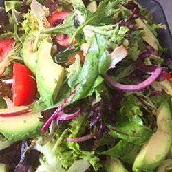 Avocado, mesculin and cucumber salad thumbnail