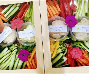Raw vegetables and dip platter thumbnail
