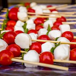 Bocconcini, cherry tomato and basil skewer thumbnail