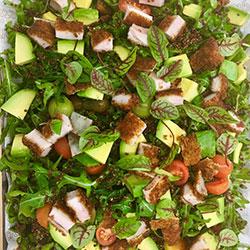 Chicken, avocado, kale and rocket salad thumbnail