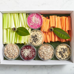 Everyday crudites and dips platter thumbnail