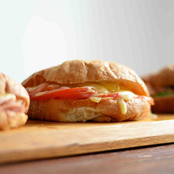 Cheese and tomato croissant thumbnail