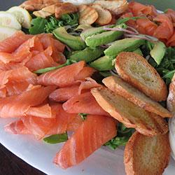 Smoked salmon buffet platter - serves 5 guests thumbnail
