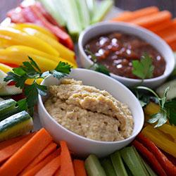 Dips and vegetable platter thumbnail