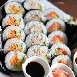 Teriyaki chicken sushi rolls thumbnail