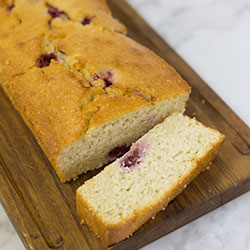 Raspberry and coconut loaf  thumbnail