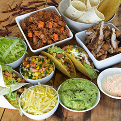 Mexican taco and fajita platter thumbnail