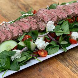 Marinated lamb and Greek salad thumbnail