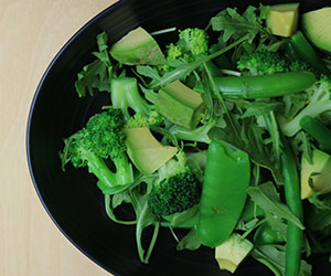 Steamed greens and avocado salad thumbnail
