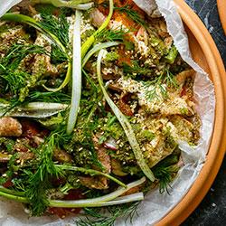 Zucchini and radish salad thumbnail