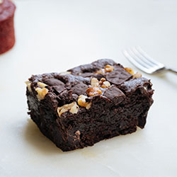 Roasted walnut and choc fudgy brownie thumbnail