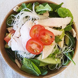 Chicken rice noodle salad thumbnail