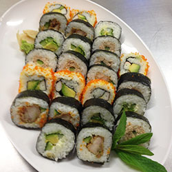 Mixed sushi roll platter thumbnail