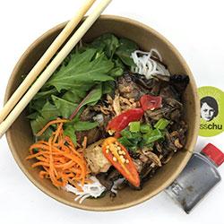 Vegan mushroom vermicelli salad thumbnail