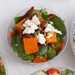 Roasted pumpkin and spinach salad thumbnail