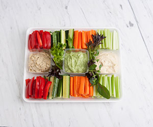 Vegetable and dip platter - serves 15 to 20 thumbnail